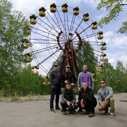 I and my friends from Estonia at amusement park in Pripyat.